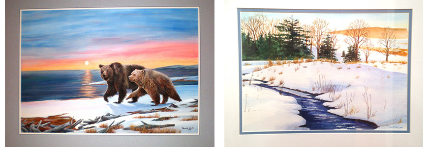 Original Paintings with Frames